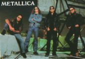 Metallica - 'Group on Roof Top' Postcard